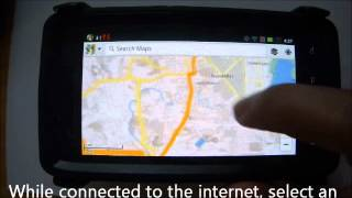 How to use an android device as GPS Navigator without internet connection