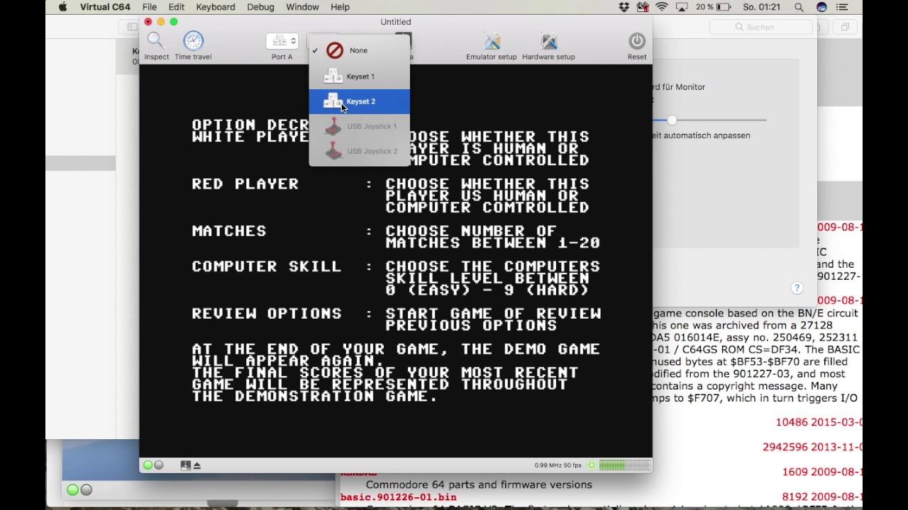 C64 FÜR DEN MAC - Wie installiere ich VirtualC64 für den Mac (Tutorial) ?
