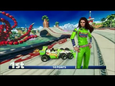 Sonic & All-Stars Racing Transformed (PS3) Danica Patrick in Dragon Cup (Expert)  