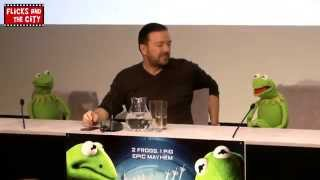 Muppets Most Wanted Constantine The Bad Guy & Ricky Gervais