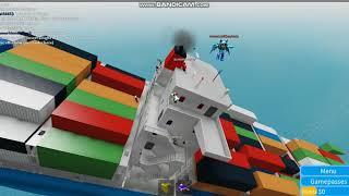 abadon ship !! roblox sinking ship