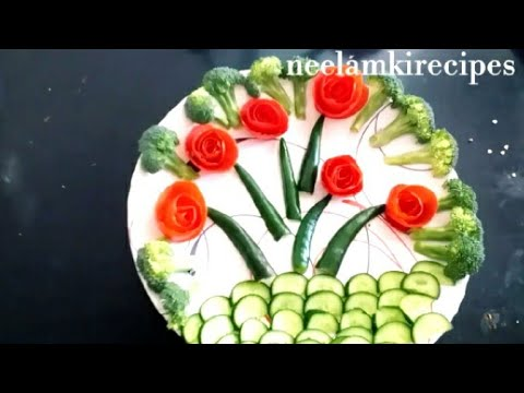 Unique And Easy Salad Decoration Ideas By Neelamkirecipes Action