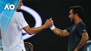 Tomic v Estrella Burgos match highlights (2R)   Australian Open 2017