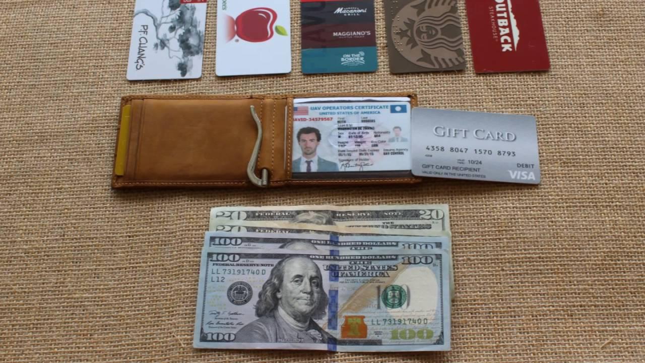 d1162a47105 SERMAN BRANDS 1.0 - RFID Blocking minimalist wallets - Front pocket ...
