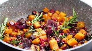 October's Warm Butternut Squash and Chorizo Salad recipe