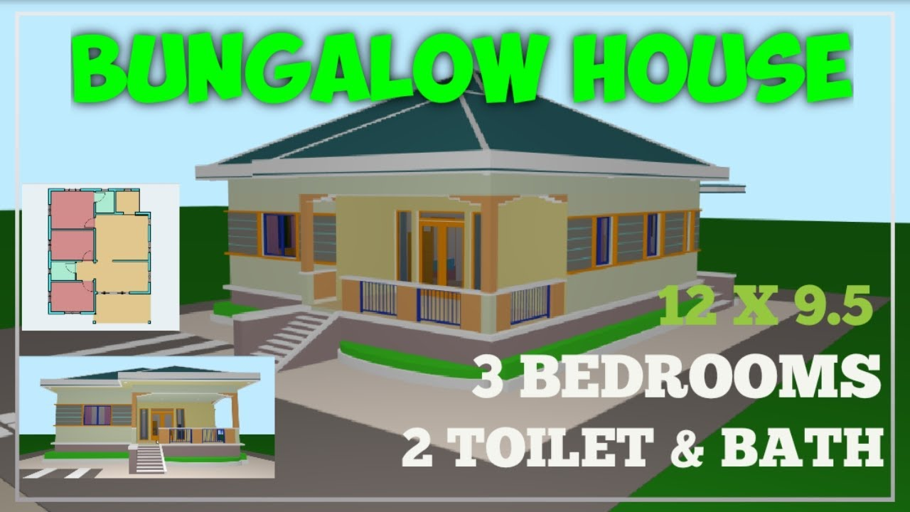 12 X 9 5 Elevated Bungalow House Design 120 Square Meter