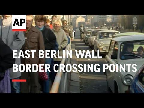 East Berlin Wall Border Crossing Points Part 1 - 1989