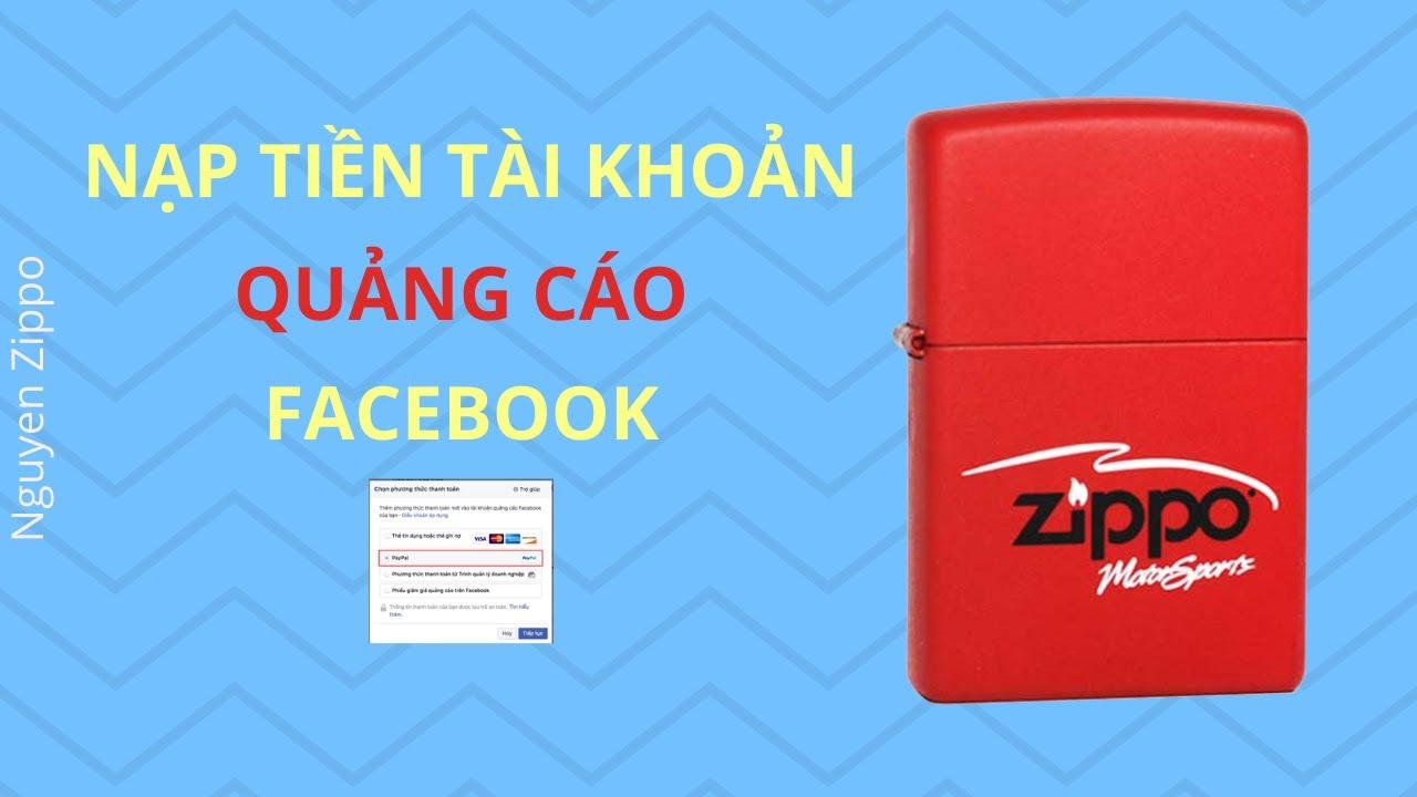 Cách nạp tiền vào tài khoản quảng cáo Facebook