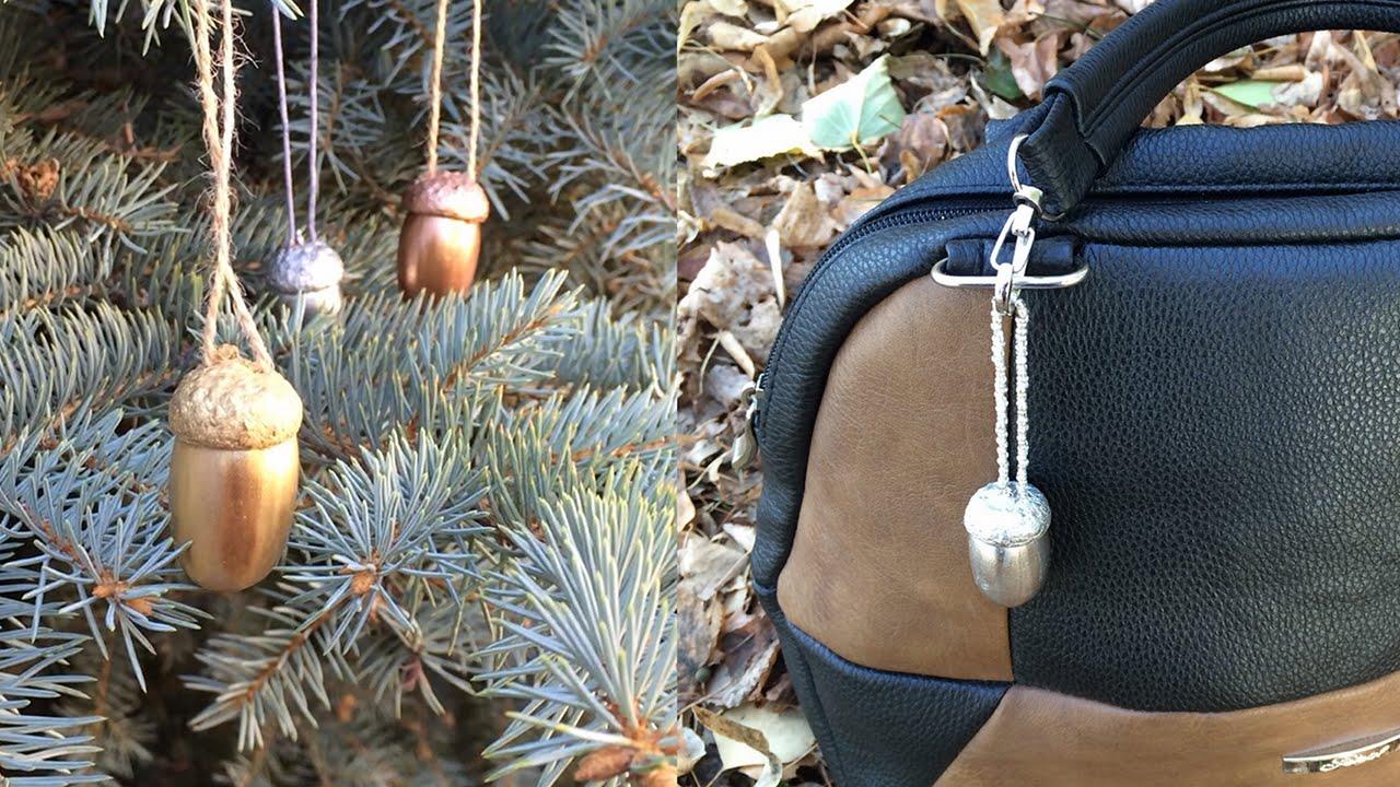 Acorn Craft Ideas Christmas Tree Decoration Accessories Keychain