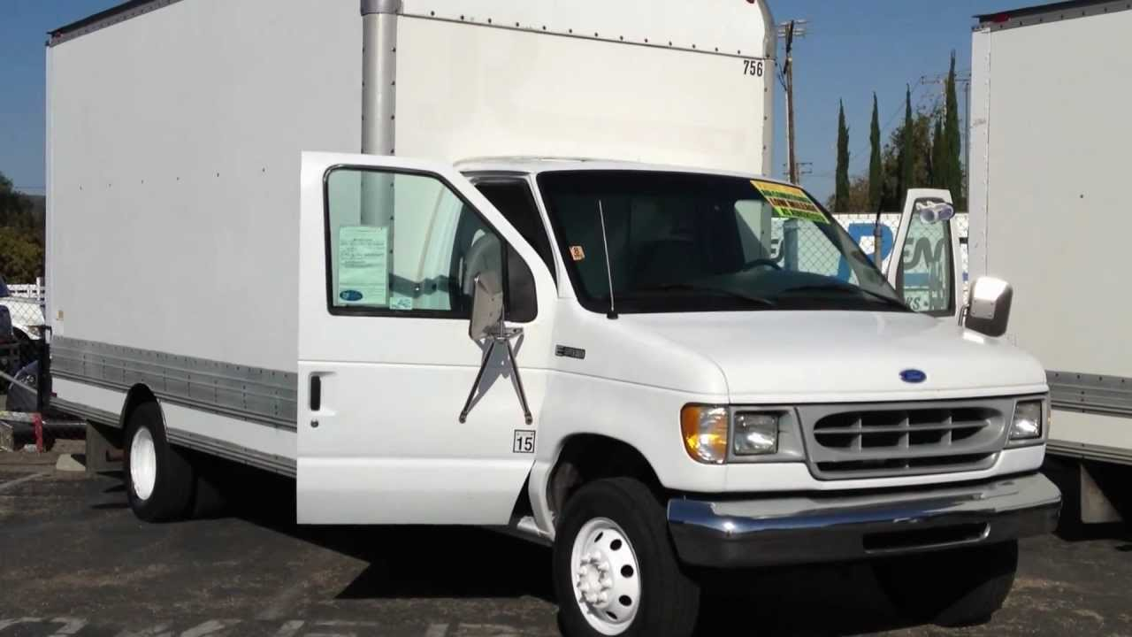 Stock 756 1997 Ford E450 15 Foot Box Truck 101k Miles