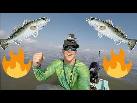 Trout On Fire! East Galveston Bay (Solo Skiff Fishing)