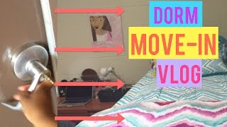 DORM MOVE-IN VLOG 2015 | MOVING INTO MY  COLLEGE DORM| BeautybyTommie