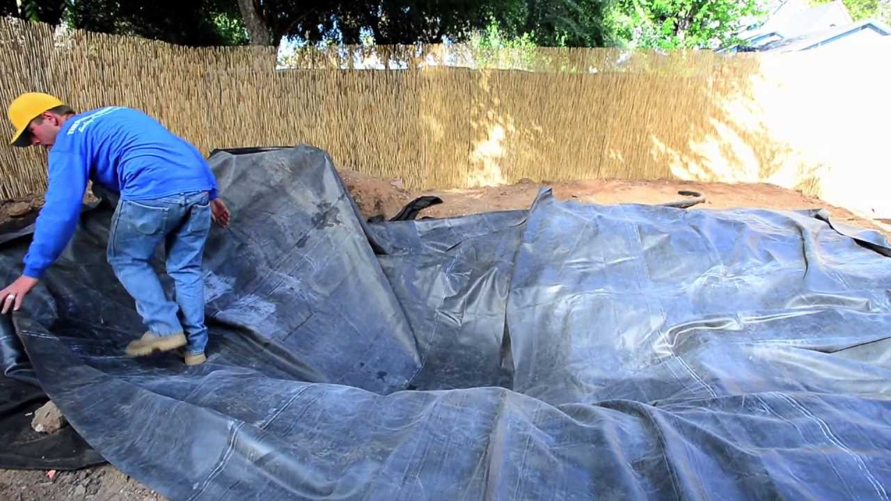 How to build a fish pond part 6 pond liner for Building a pond with liner