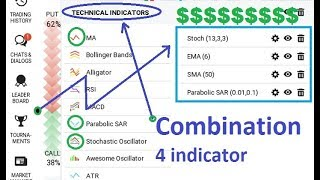 SUPER COMBINATION - 4 accurate indicator - high profit - iq option strategy