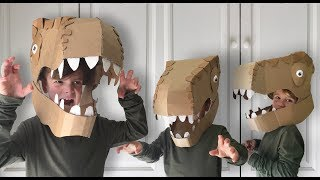 How to make a Cardboard Dinosaur Head Costume