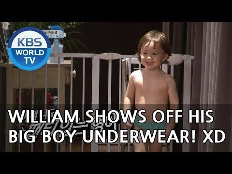 William shows off his big boy underwear! XD [The Return of Superman/2018.10.07] thumbnail