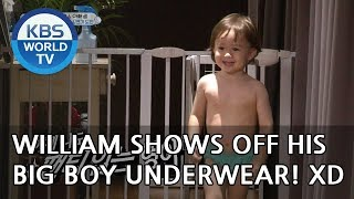 William shows off his big boy underwear! XD [The Return of Superman/2018.10.07]