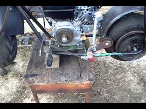 Belt Drive 6 5 Mini Bike Foot Clutch Youtube