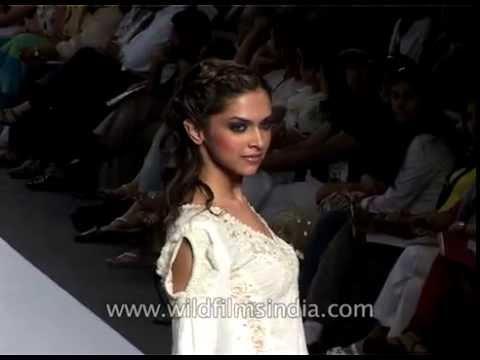 Deepika Padukone presents designer Ritu Kumar's collection