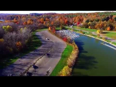 Pleasant Hill Lake Dji Phantom 3 Perrysville Ohio in The Fall