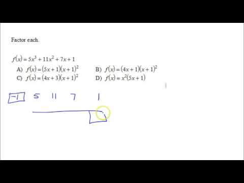 U3P1 Commonly Missed   Factoring Polynomials B