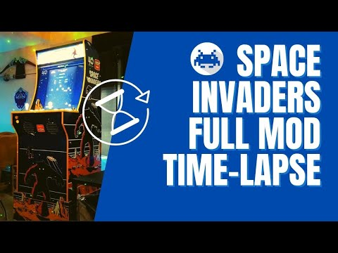 Arcade 1Up Space Invaders Mod Full Time-lapse from Rob Young
