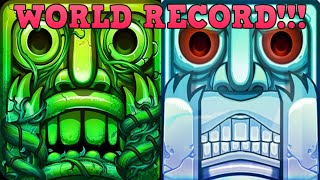 Playing Temple Run BUT every LIKE makes it Faster (WORLD RECORD 1 YEAR )
