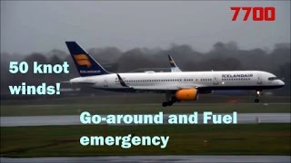 STORM DORIS CAUSES EMERGENCY LANDING AND INTENSE GO AROUND - Icelandair 757