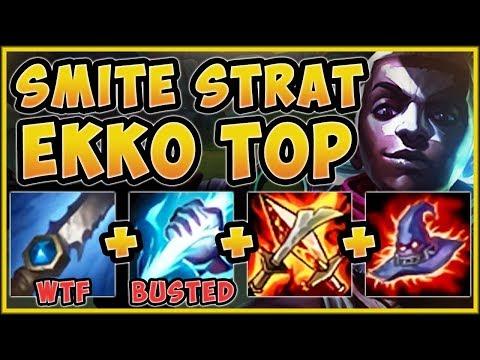 TROLL OR GENIUS?? SMITE EKKO TOP STRATEGY IS 100% GENIUS! EKKO TOP GAMEPLAY! - League of Legends