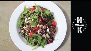 Summer Salad  - Beetroot, Spinach, Feta And Sesame Oil Glaze