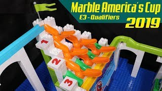 MARBLE RACE: America's Cup 2019 Qualifiers: E3 - Halfpipes with Funnel RACE
