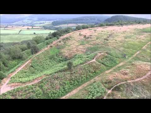 Clun Castle & Bury Ditches.  Filmed with the DJI Phantom 3 Professional