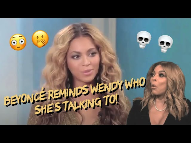Beyonce Speaks to Wendy Williams and Tiffany Haddish