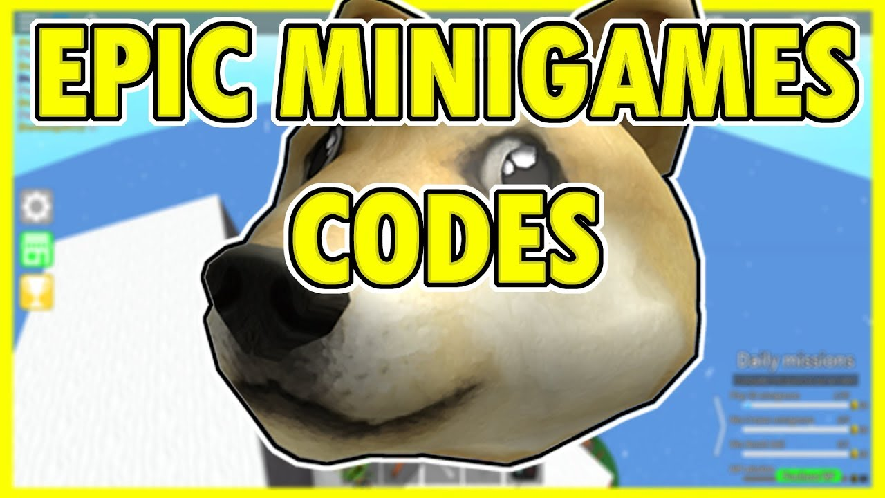 Epic Minigames Codes 2019 Youtube