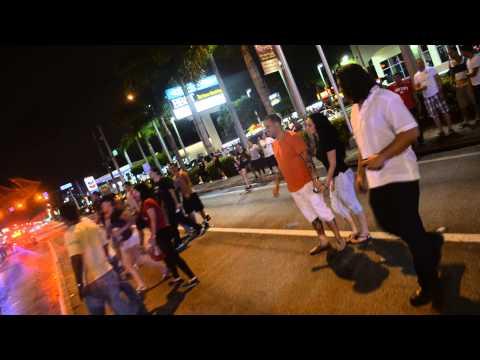 Miami Heat beat Indiana Pacers 2013 Hialeah Celebration 49th Street