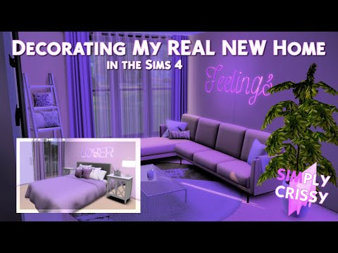 Decorating My NEW HOME In The Sims 4 (Bringing It To LIFE) 🏡✨💜| Crissy Danielle