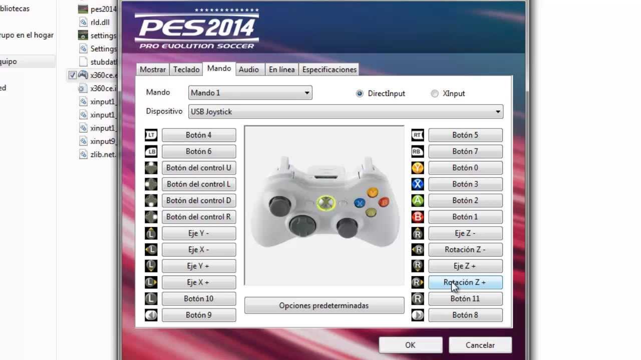 Configurar mando para pes 2014 v 1 youtube for Sillas para jugar xbox
