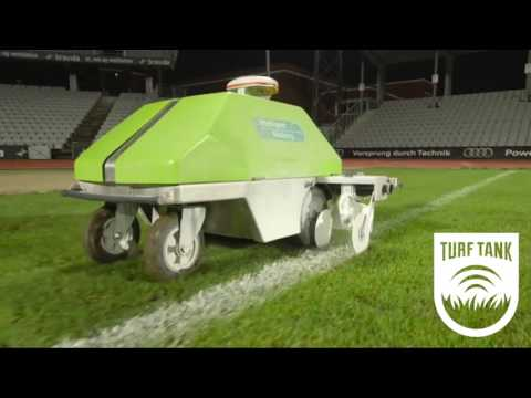 Intelligent One (ION) - Athletic Field Marking GPS Robot by Intelligent Marking