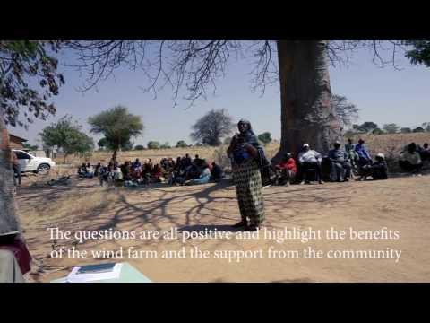 Dodoma Wind Farm Community Open day, Tanzania