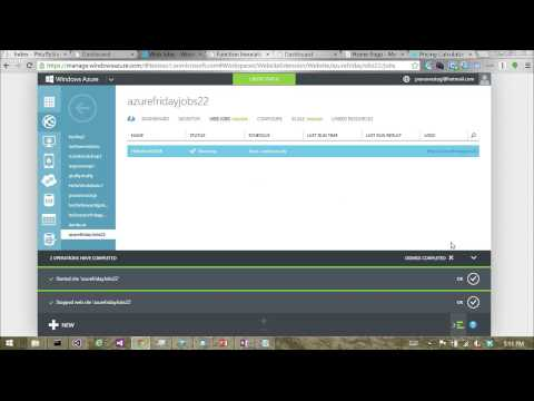 Azure WebJobs 104   Hosting and testing WebJobs in  NET with the WebJobs SDK with Pranav Rastogi