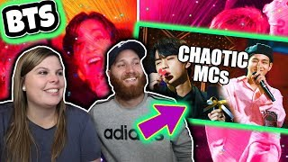 BTS being chaotic MCs COUPLES REACTION