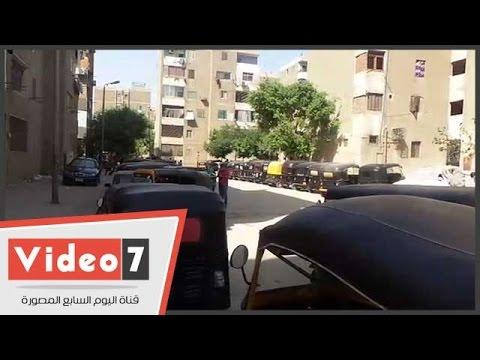اليوم السابع : زحام على نقطة شرطة عين حلوان لترقيم