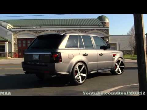 Matte Range Rover Sport on Custom Wheels - Katie's Coffee ...