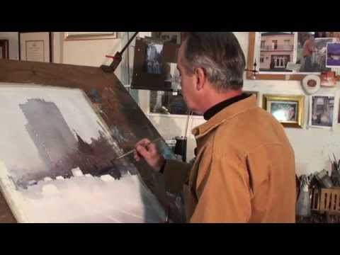 Unusual Watercolor Painting Technique--Use your fingers!