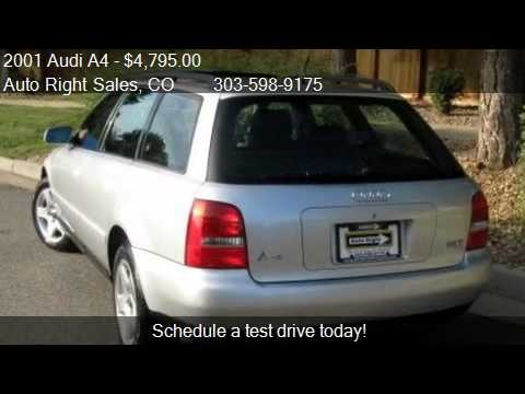 2001 Audi A4 18t Avant Quattro Awd 4dr Wagon For Sale In Co Youtube