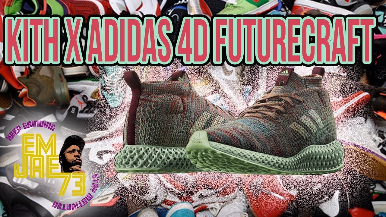 best service cff3c caf63 UNBOXING & HANDS - ON REVIEW: THE KITH X ADIDAS 4D FUTURECRAFT RUNNER    KITH NYC
