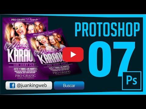 Como Diseñar un Flyer o Volante karaoke en Photoshop Capitulo 7 JuanKING