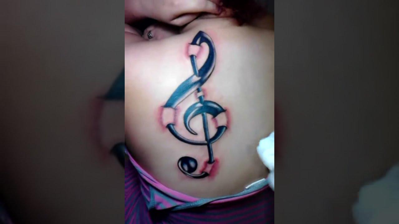 Tatuaje de Mairyn , Signo Musical 3D
