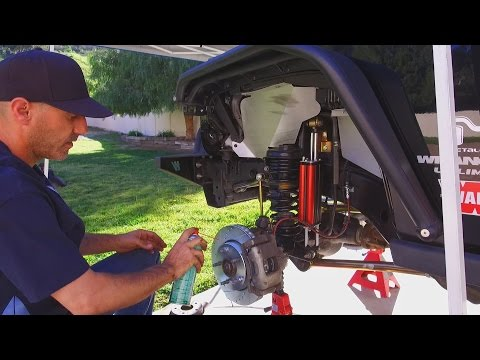 Jeep Wrangler JKU Power Stop Brake Install How To Plus Rugged Ridge XHD Wheels