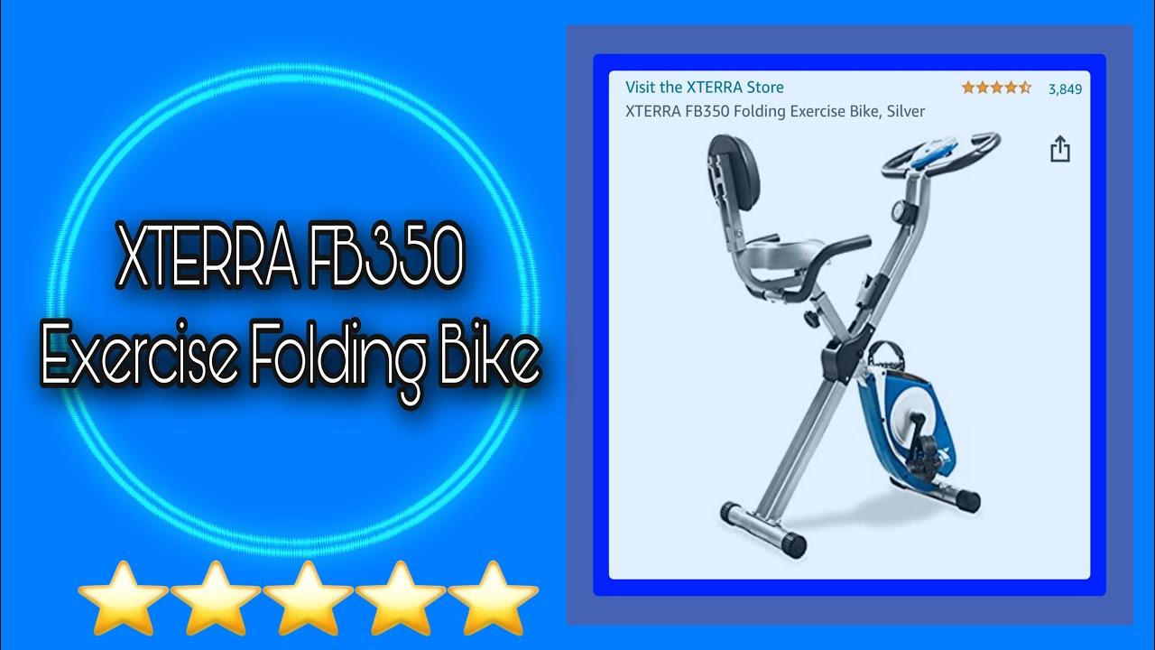 XTERRA FB350 Folding Exercise Bike Silver